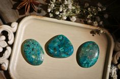 Chrysocolla cabochon oval or pear shape high quality cabochon Indian stone real crystal stone beautiful specimen