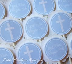 Baptism Christening First Holy Communion Favor Tag by ciaobambino, $6.00