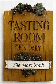 Personalized Tasting Room Wine Sign item 598
