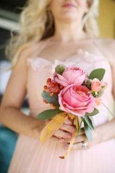 Pink Posy Bouquet for bridesmaids