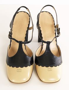 Chanel Heels...all except for the logo on the top. Ruins the look and I hate wearing logos, but... love the design!