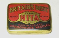 Britain's Best Nita Gramophone Needles Tin England