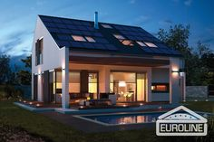 Rodinný dům - Aktiv 2020 Big Windows, Aktiv, Home Fashion, Swimming Pools, Home And Garden, Mansions, House Styles, Outdoor Decor, Inspiration