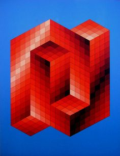 Another visual trick from Vasarely...