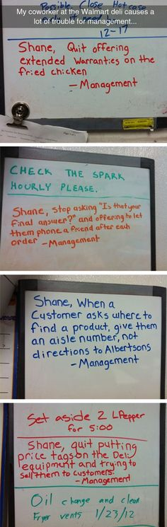 That sound like something some of my friends or I would do. (Ironically, one of them is named Shane)