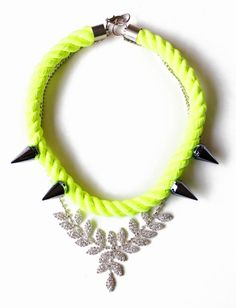 Neondagger Neon Rope Necklace statement necklace by nutcasefashion, $65.00