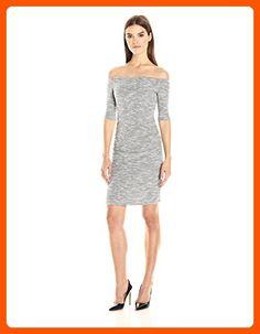 Nicole Miller Women's Sparkle Knit Combo Dress, Grey Multi, M - All about women (*Amazon Partner-Link)
