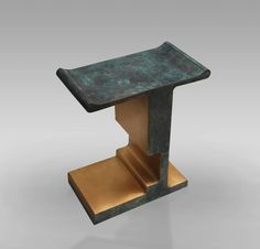 'XiangSheng Side Table 1', Oxidized and Brushed Bronze Table by Design MVW image 5