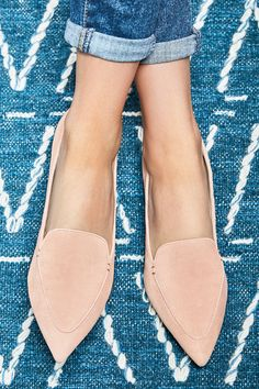 Suede pointed toe flats   Sole Society Cammila