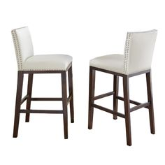 The Steve Silver Company Tiffany Bar Stool is a simple and comfortable addition to your kitchen. This stool has a wooden frame, so it adds a touch of finesse to any home. It features an armless design, so you can push it under the counter or bar. Counter Stools With Backs, Grey Bar Stools, Swivel Counter Stools, Counter Height Bar Stools, 30 Bar Stools, Bar Chairs, Kitchen Stools, Room Chairs, Kitchen Island