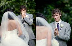 Emocionantes fotografías revelan las reacciones de novios el día de su matrimonio | Amor