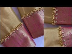 Simple old blouse makeover using normal needle in easy step by step tutorial in telugu Hand Work Blouse Design, Simple Blouse Designs, Stylish Blouse Design, Stylish Dress Designs, Bridal Blouse Designs, Traditional Blouse Designs, Pattu Saree Blouse Designs, Gold Bridal Earrings, Designer Blouse Patterns