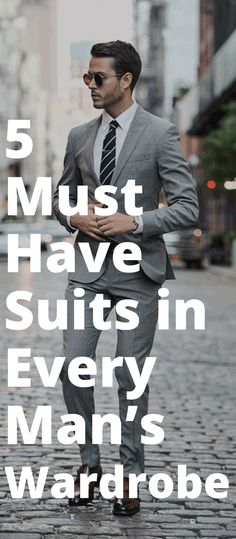 The 5 Basic Suits That You Must Absolutely Own If You Are A Professional