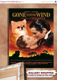 Chihuahua Vintage Movie Style Poster Canvas Print  by NobilityDogs, $47.52
