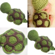Infant New Baby Dress Costume Photography Prop Crochet Beanie Animal Hat Cap Set | eBay
