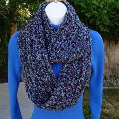 Women's hand made crochet scarf-- very soft, stretchy, and warm.