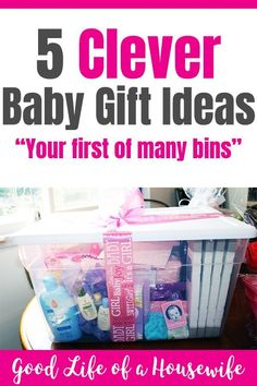 5 Clever Baby Shower Gift Ideas Gifts are always more fun when they are wrapped in a special way. Here are 5 clever ways to give a baby gift for a new b. Baby Shower Gift Basket, Baby Baskets, Best Baby Shower Gifts, Baby Shower Parties, New Mom Gift Basket, Best Baby Gifts, Gender Reveal Gifts, Thing 1, Unisex Gifts
