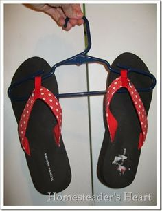 Easy Flip Flop Storage...what a great idea!