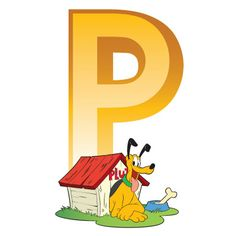 Disney Alphabet - P for Pluto | Disney Alphabet Printables | Printables | Disney Family.com