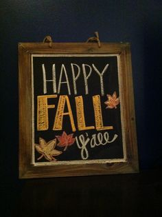 fall chalkboard :)