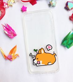 ♥ Hand painted corgi phone cases    ♥ All cases will be made to order    ♥ This design is individually hand-painted using special permanent acrylic paints onto crystal clear plastic. It is then finished with two coatings of varnish to ensure maximum durability.    - The design is painted on the inside of the case so the paint cannot be affected.    - If you love the design, but don't see your phone model in the list, please contact us. We are always able to order in cases for any phone at no...