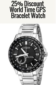 53230274322 Special 25 % Discount Citizen Men s Satellite Wave-World Time GPS Bracelet  Watch Pulseira De