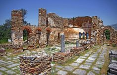 Macedonia - the ancient kingdom of Greece - the byzantine basilica of saint achileios, small prespa lake, Florina,  #Macedonia #Florina #Greece