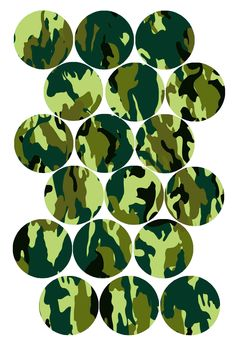 """Fun Camouflage Pattern (Green) Bottle cap image pack  Formatted for printing on 4"""" x 6"""" photo paper"""
