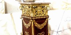 Extraordinary ormolu mounted handmade pedestal produced of the finest woods & veneers, magnificent in details - picture speaks about it self.  REF:A882M Height: 110 cm Width : 45 cm Depth : 45 cm www.azharyantiques.com