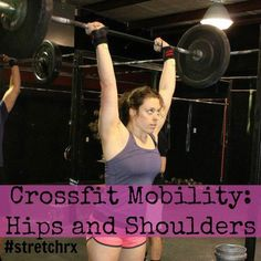 Crossfit Mobility for Hips and Shoulders. For more resources on Crossfit, women's strength training, and more, check out www.winetoweightlifting.com!
