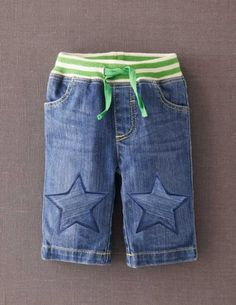 I've spotted this @BodenClothing Baby Star Patch Trousers Denim