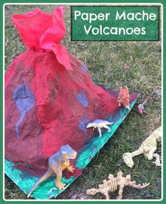 How to make papier mache volcanoes for small world play Volcano For Kids, Making A Volcano, Paper Glue, Red Paper, Paper Mache Volcano, Diy For Kids, Crafts For Kids, Creative Arts And Crafts, Creative Ideas