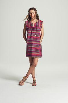 Asigia Woven Cotton Shift Dress