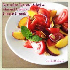 , Tomatoes Salad, Feta Salad, Cheese Crumble, Nectarine Tomatoes ...