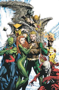 Aquaman and Justice League America by David Finch