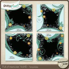 Designer Spotlight & Daily Download 7/13/16 - Gotta Pixel :: Full of Memories Vol.40 by PrelestnayaP Designs
