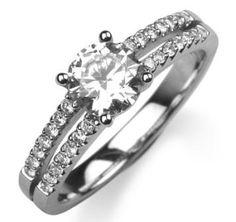 Diamond set split sides by www.diamondsandrings.co.uk