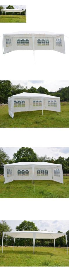 Marquees and Tents 180994 10 X 20 4 Sidewalls Party Tent Heavy Duty Gazebo Wedding  sc 1 st  Pinterest & eWarehouseDirect 10u0027x20u0027 White Pink Outdoor Gazebo Canopy Wedding ...