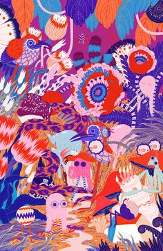 Hugo & Marie is a multi-disciplinary creative studio and artist representation firm based in New York City. Art And Illustration, Floral Illustrations, Illustrations Posters, Motifs Textiles, Motif Floral, Of Wallpaper, Textures Patterns, Art Inspo, Painting & Drawing