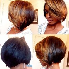 African American Women Hairstyles: Ombre Bob for Short Hair