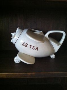 SALE  RARE Vintage Fitz and Floyd S S Teapot by TheOwlCage on Etsy,