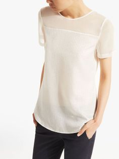STRUCTURED MINI-CHECKED TOP