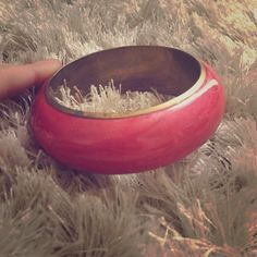 Funky pink bangle Pinky coral colored bracelet- perfect for summer and festival season!!! Topshop Jewelry Bracelets
