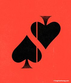 The Art of Negative Space: Part II by Tang Yau Hoong. Great for a Casino related logo