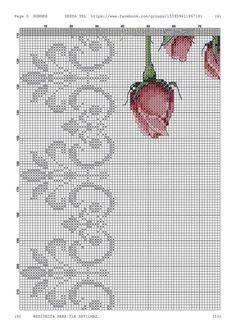 Cross Stitch Boarders, Cross Stitch Patterns, Knitting Charts, Knitting Patterns, Stitch Doll, Art Nouveau Pattern, Little Stitch, Bargello, Small Flowers