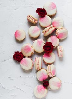 Vanilla Bean Macarons with Rose Buttercream ~ Barley & Sage
