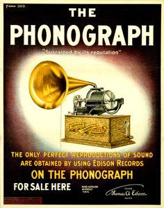 Edison ad for phonographs.