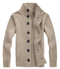 Men's Style Fall: The Cole Knit Cardigan Tan!
