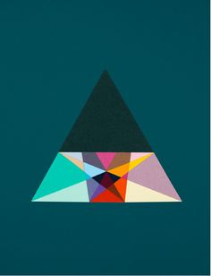 Triangular Section of the Great By Carl Kleiner - from Golden Ratio & Friends. http://www.carlkleiner.com/  #triangle #art