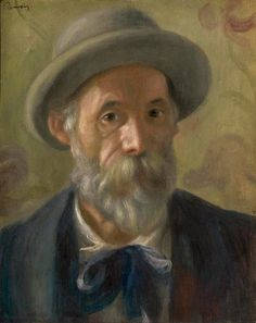 """""""Self-portrait"""" (c. 1897) By Pierre-Auguste Renoir, from Limoges, France (1841 - 1919) - oil on canvas; 41.3 x 33.5 cm; 16 1/4 x 13 3/16 in - © Sterling and Francine Clark Art Institute, Williamstown, Massachusetts, US; 1955 - The Clark"""